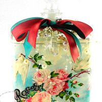 Doves and Roses Perfume Bottle Nightlight  ( Night Light )