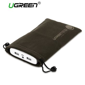 Ugreen Phone Pouch Power Bank Bag for Mobile Phone Accessories Powerbank Cables Portable Waterproof Drawstring Protection Bag
