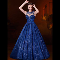 Vestidos de Fiesta Ball Gown Prom Dresses See Through Back Sexy Prom Gowns 2016 Vestidos de noche Party Evening Dress