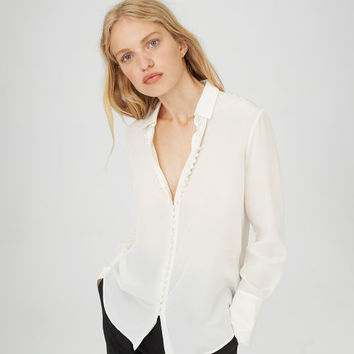 Women | Long Sleeve | Helek Silk Shirt | Club Monaco