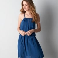 DON'T ASK WHY CINCHED SLIP DRESS