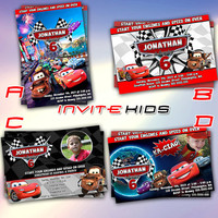 Cars Lightning Mc Quenn Design - Invitation Card - Birthday Party Kids - InviteKids
