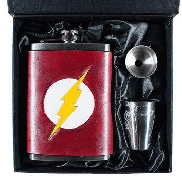 Flash Inspired Lightning Bolt Flask Set