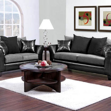 Lanzo 2 Pc. Gray Living Room - Living Room Sets - Living Room - mobile - theroomplace - Product Groups