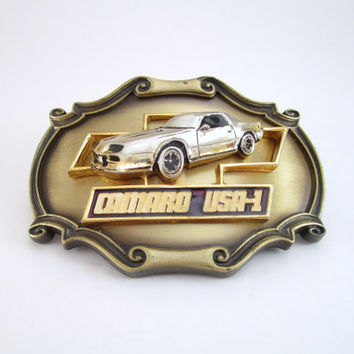 1978 Camaro Belt Buckle, Vintage Raintree Belt Buckle Camaro USA-1, Chevrolet Camaro Belt Buckle, Hot Rod Belt Buckle, Z-28 Camaro Buckle