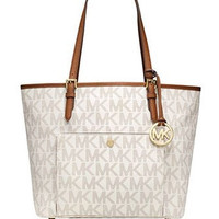 Michael Michael Kors Jet Set Signature Large Snap Pocket Tote