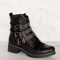 Legendary Black Buckle Boots