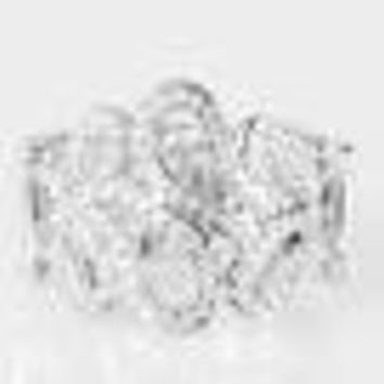 All Glammed Up White Paparazzi Ring