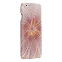 Soft Pink Floral Dream Abstract Modern Flower Glossy iPhone 6 Case