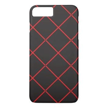 cross lines (black and red) iPhone 8 plus/7 plus case