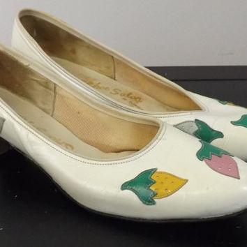Adorable Vintage Strawberry Shoes