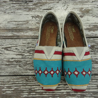 Custom hand painted TOMS, South by Southwest