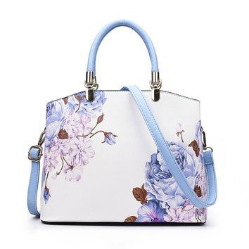 ZHIERNA New Designer Ladies Hand bag Famous Brand Printing Flower PU Leather Women Handbags Shoulder Bag For Female Tote Bags