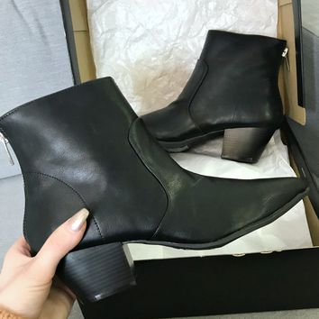 You First Western Black Ankle Bootie