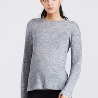 T by Alexander Wang Linen Long-Sleeve Crewneck Tee - WOMEN - T by Alexander Wang - OPENING CEREMONY