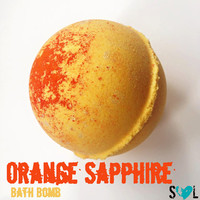 Orange Sapphire Bath Bomb, Orange Bath Bomb, Jumbo Bath Bomb, Colorful Bath Bomb, Sparkling Bath Bomb, Shimmering Bath Bomb