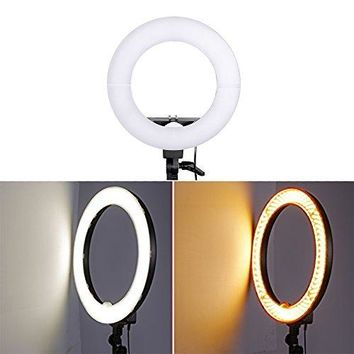 12'' 5600K Dimmable LED Ring Light, Continuous Lighting Kit Photography Photo Studio