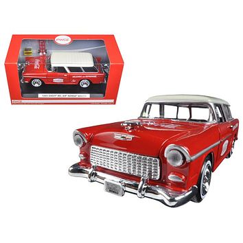 1955 Chevrolet Nomad Coca Cola 2 bottle cases&metal h&cart 1:24 Diecast Car