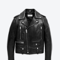 Saint Laurent Classic Motorcycle Jacket In Black Leather | ysl.com