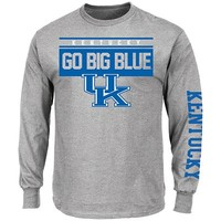 Men's Long Sleeve Breathe Victory Crew Neck Tee - University Of Kentucky | Majestic Athletic Official Store