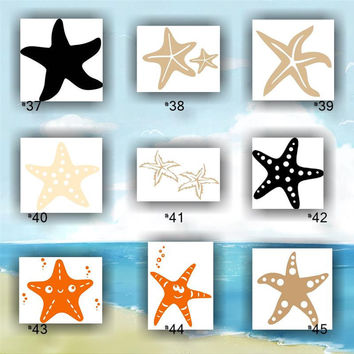 STARFISH vinyl decals - #37-45 - custom car stickers