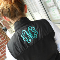 Women's Vest Monogram Font Shown INTERLOCKING