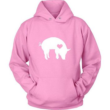 Pig Heart Hoodies Sweater