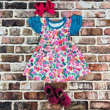 RTS Peppa Pig Dress w/ Ruffled sleeves D11