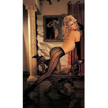 Shirley of Hollywood IS-SOH-90225 Dot And Chain Pantyhose