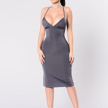 Simplicity Is Bliss Dress - Eggplant