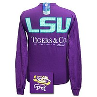Louisiana State LSU Tigers and Co Delta Girlie Bright Long Sleeves T Shirt