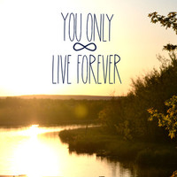 You Only Live Forever Art Print by Valerie Bee