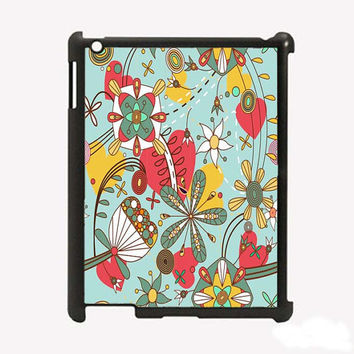 iPad 2 iPad 3 Butterfly and Flowers Hard iPad Case by KustomCases