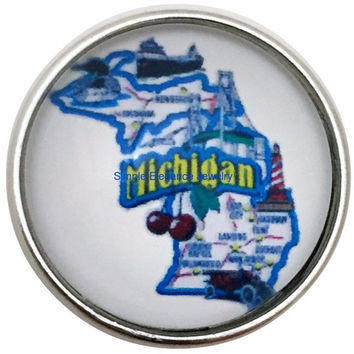 Michigan State Snap 20mm for Snap Charm Jewelry