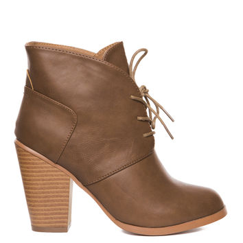 Raelynn Booties - Taupe