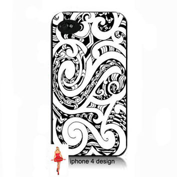 iphone 4 case, cell phone case, i phone case, i phone 4s case black and white design