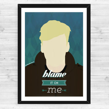 A3 George Ezra Blame It On Me Minimalist Poster