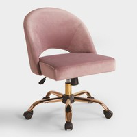 Mauve Velvet Cosmo Upholstered Office Chair