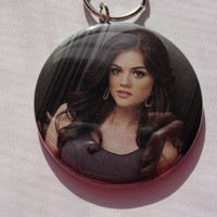 Pretty Little Liar (Aria) Custom made Key Chain made Just For You By Maggi