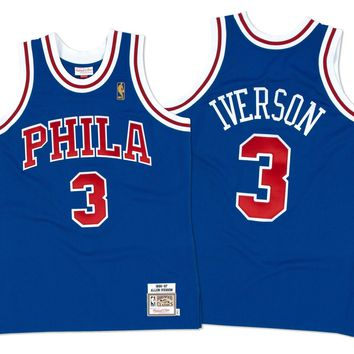 Mitchell & Ness Allen Iverson 1996-97 Authentic Jersey Philadelphia 76ers In Blue
