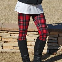 Wrap Me Up In Plaid Leggings
