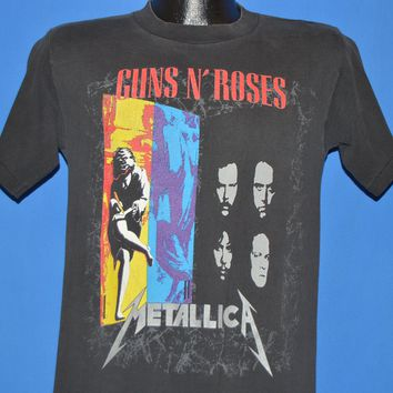 90s Guns N Roses Metallica 1992 Tour t-shirt Small