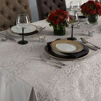 Aspen Tablecloth - Washable - Coated for Easy Care - 2 Colors