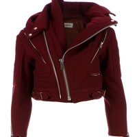 UNDERCOVER twisted collar biker jacket