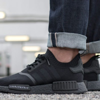 ADIDAS NMD R1 PRIMEKNIT JAPAN IN TRIPLE BLACK US10.5 NEW&100% Authentic BZ0220