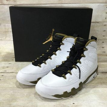 LMFNO Air Jordan 9 Retro (White / Black-Militia Green)