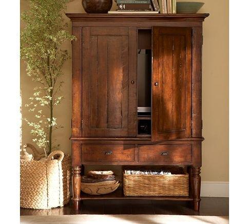 Mason Media Armoire Rustic Mahogany From Pottery Barn