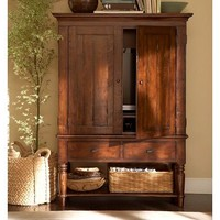 Mason Media Armoire - Rustic Mahogany finish