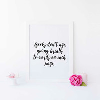 Motivational Print Writer Gift Writing Quote Writer Quote Gifts for Writers Witty Writing Quote Writing Quote Print Winter Gift