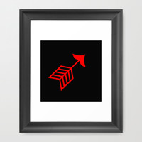 Red arrow Framed Art Print by Gbcimages